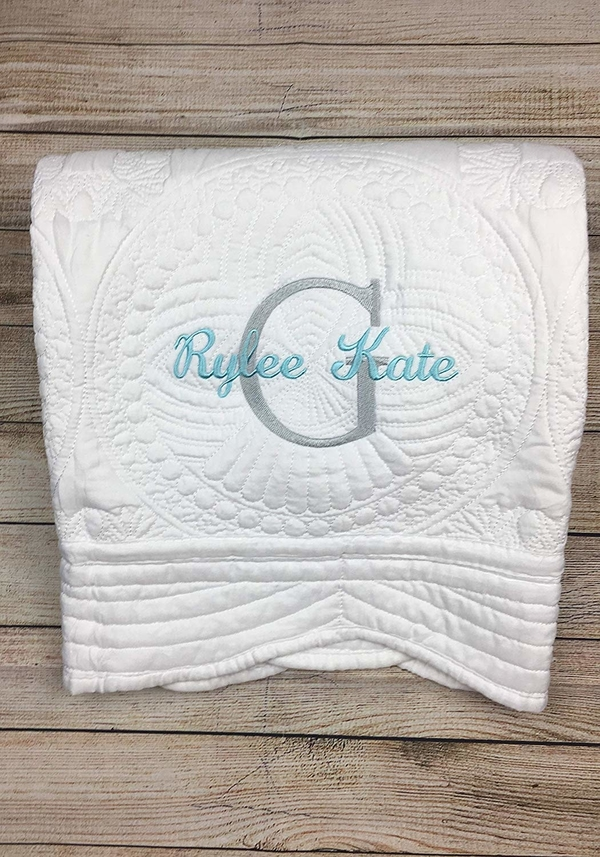 handmade embroidered baby blankets